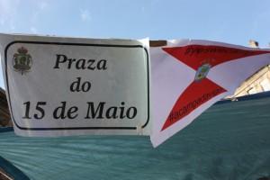 Placa de Plaza do 15 de Maio