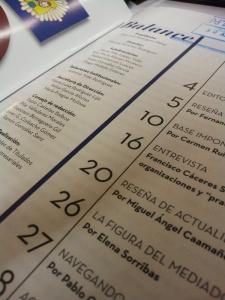 Índice de la Revista Balance. Página 26 La figura del mediador por Elena Sorribas