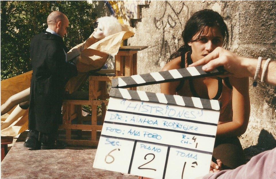 Fotografía del rodaje del cortometraje Histriones de Ainhoa Rodríguez. LeleSorribas2003