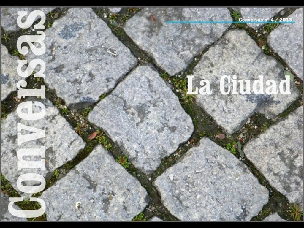 Portada Conversas nº4. La ciudad. LeleSorribas2013