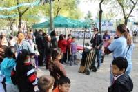 Acción en un barrio de Madrid. Ciudad sostenible. Fotografía cedida por Paisaje Transversal