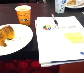 Café, croasán y acción. Mobile World Congress 2014. LeleSorribas