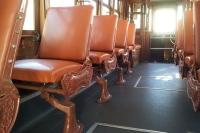 Interior de tranvía. Interior do eléctrico. Porto. Portugal
